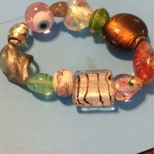 New glass stretch bracelet